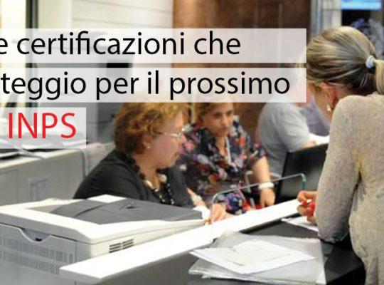 Concorso INPS - certificazioni